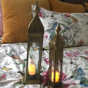 Accent candle holders set of 2. Arabian nights